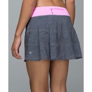 LULULEMON Pace Rival Skirt II Heather Gray, Pink 4